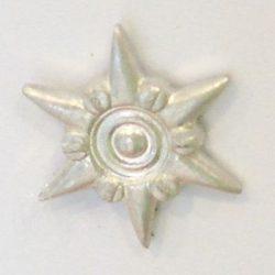 6ágú csillag ALU - fehér