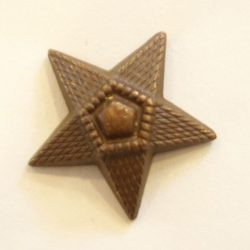 5ágú csillag fém szúrós - barna 20 mm