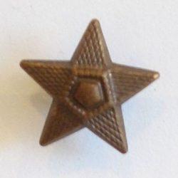 5ágú csillag fém szúrós - barna 15 mm