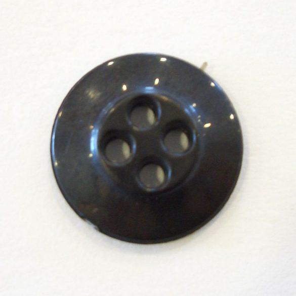 Gomb 17-es - fekete