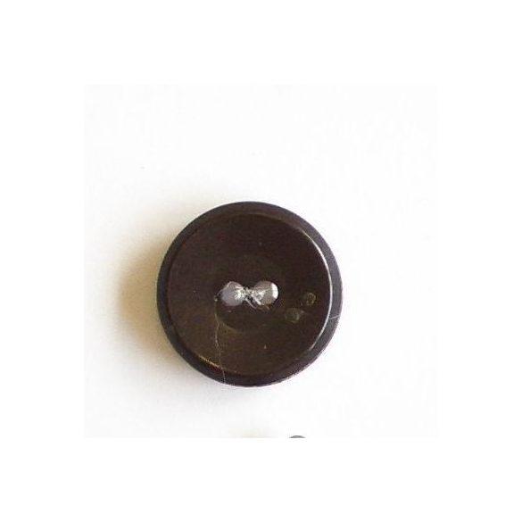 Gomb 65M kabáthoz - barna