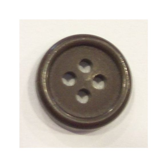 4 lyukú belső zsebgomb - barna 15 mm