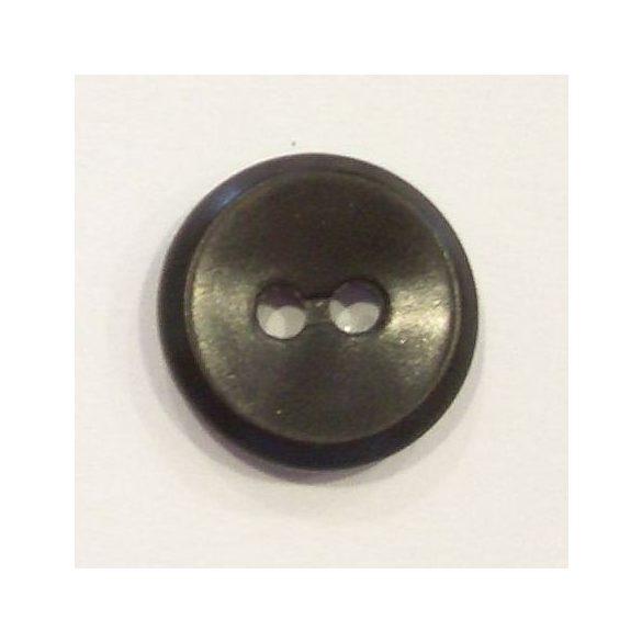 2 lyukú belső zsebgomb - barna 16 mm