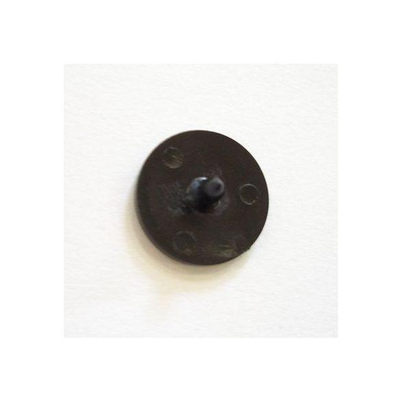 Nyomógomb esőgallérhoz 1,3 cm - fekete felső
