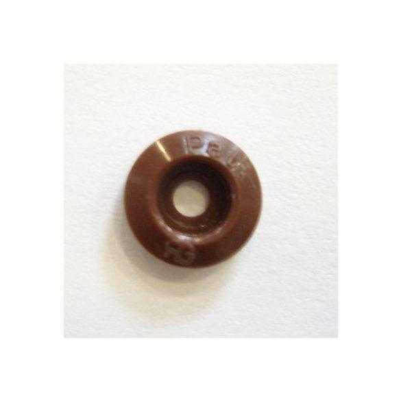 Nyomógomb esőgallérhoz 1 cm - barna alátét I