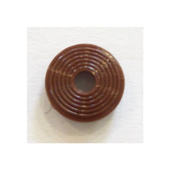 Nyomógomb esőgallérhoz 1 cm - barna alátét II