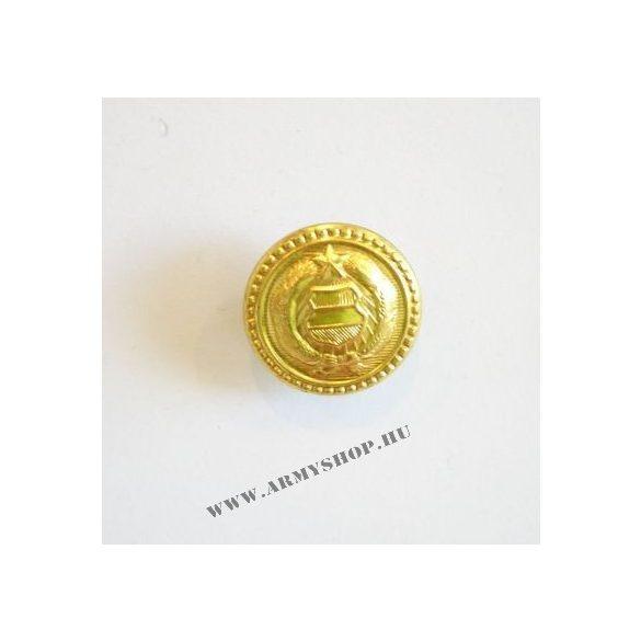 Gomb zubbony BM arany címeres