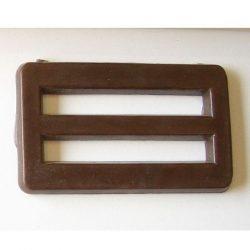 Övcsat felöltőre - barna 5 cm
