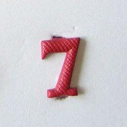 Fém szám - piros 7