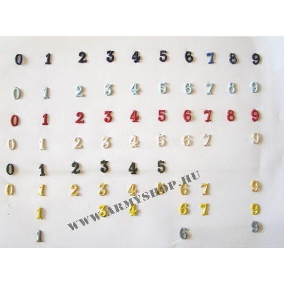 Fém szám - ezüst 0