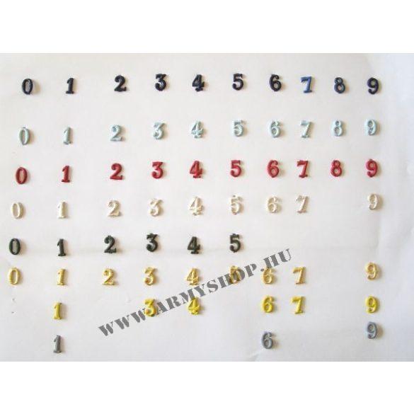 Fém szám - arany 0