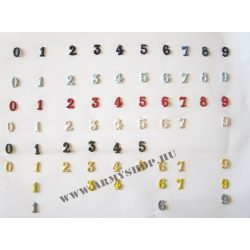 Fém szám - arany 5