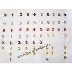 Fém szám sárga 4