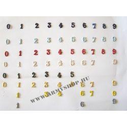 Fém szám sárga 7