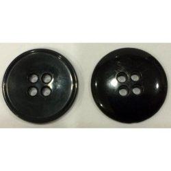 4 lyukú lapos Gombík - čierna 20 mm