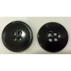 4 lyukú gömbölyű Gombík - čierna 20 mm