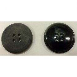 4 lyukú peremes Gombík - čierna 25 mm