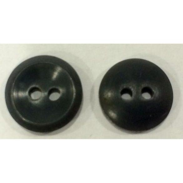2 lyukú gomb - szürke 13 mm