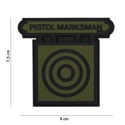 Pistol Marksman PVC felvarró - zöld