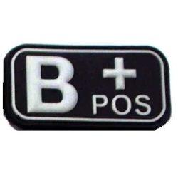 Vércsoport PVC felvarró B+