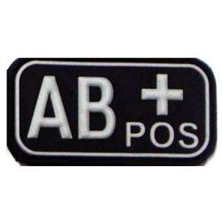 Vércsoport PVC felvarró AB+