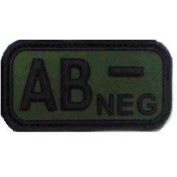 Vércsoport PVC felvarró AB-