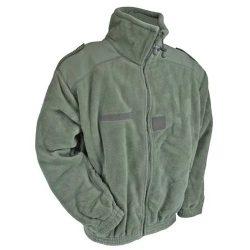 Francia fleece dzseki - zöld