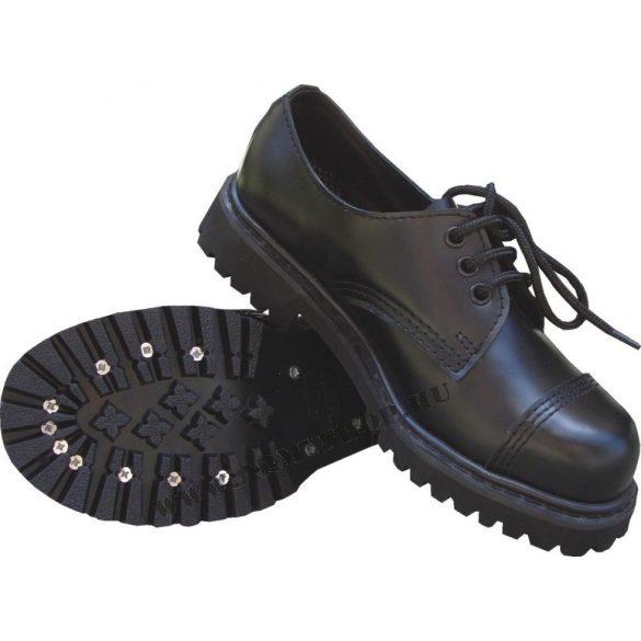 Red Rooster acélbetétes cipő, félcipő (matt) - fekete 37
