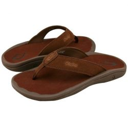 Olukai Napili papuče - hnedý