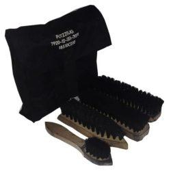 Cipőtisztító készlet (használt) - fekete tokkal
