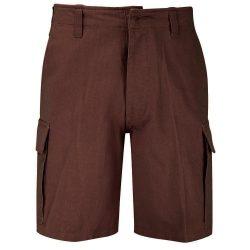 Kőmosott moleszkin short, bermuda, rövidnadrág - barna XXS