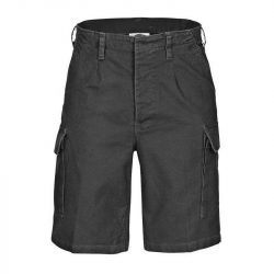 Kőmosott moleszkin short, bermuda, rövidnadrág - fekete XXS