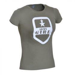Army Girl póló - military-zöld