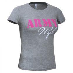 ARMY Wife póló - szürke L