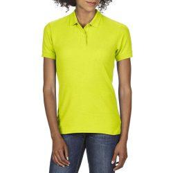 Gildan Dryblend női piké póló - uv zöld