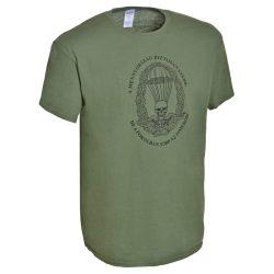 Ejtőernyős póló (magyar) - military-zöld