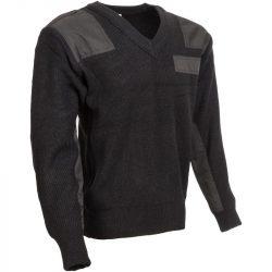 M-Tramp V-nyakú pulóver - fekete