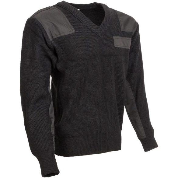 M-Tramp V-nyakú pulóver - fekete L