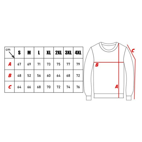 M-Tramp O-nyakú pulóver - fekete 4XL