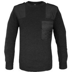 Mil-Tec O-nyakú pulóver - fekete