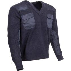 M-Tramp V-nyakú pulóver - kék