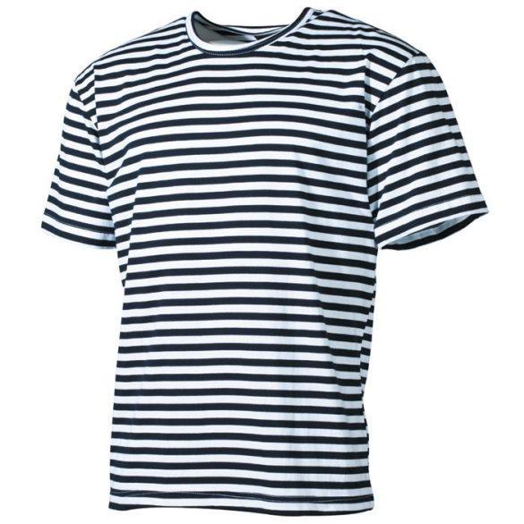 Mil-Tec orosz tengerész póló - fehér/kék csíkos S
