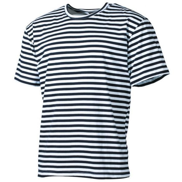 Mil-Tec orosz tengerész póló - fehér/kék csíkos M
