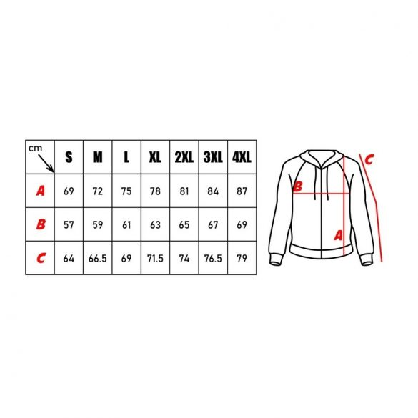 M-Tramp kapucnis pulóver - szürke-digit 4XL