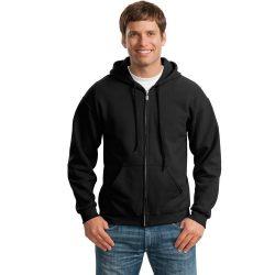 Gildan GI18600 kapucnis pulóver - fekete