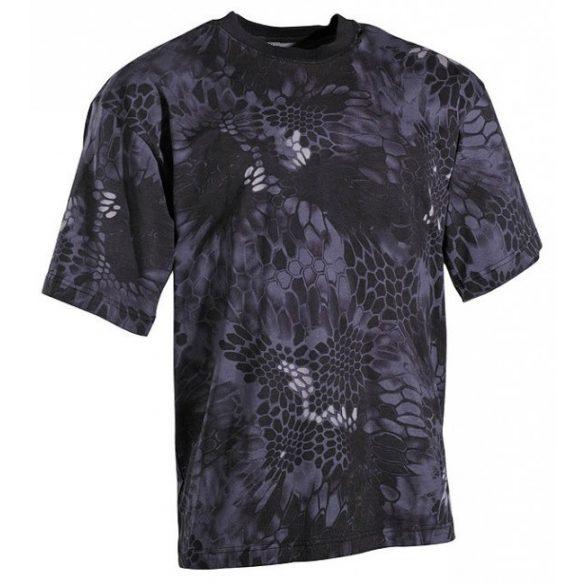 M-Tramp mandra camo póló - fekete XL