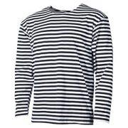 Mil-Tec hosszú ujjú orosz tengerész póló - fehér/kék csíkos M