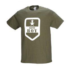 Army boy póló - military-zöld