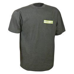 Póló UV szalaggal - zöld