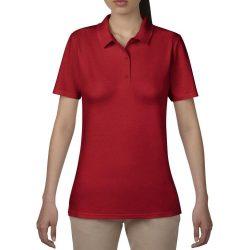 Anvil női piké póló - piros